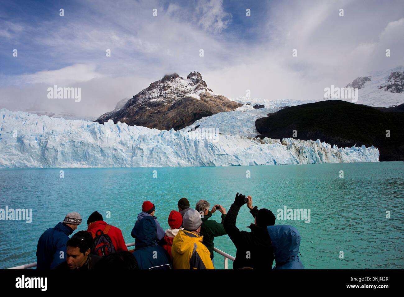 Argentina Südamerika Amerika March 2009 Patagonia Lago Argentino Lake Spegazzini Glacier ice UNESCO world heritage - Stock Image