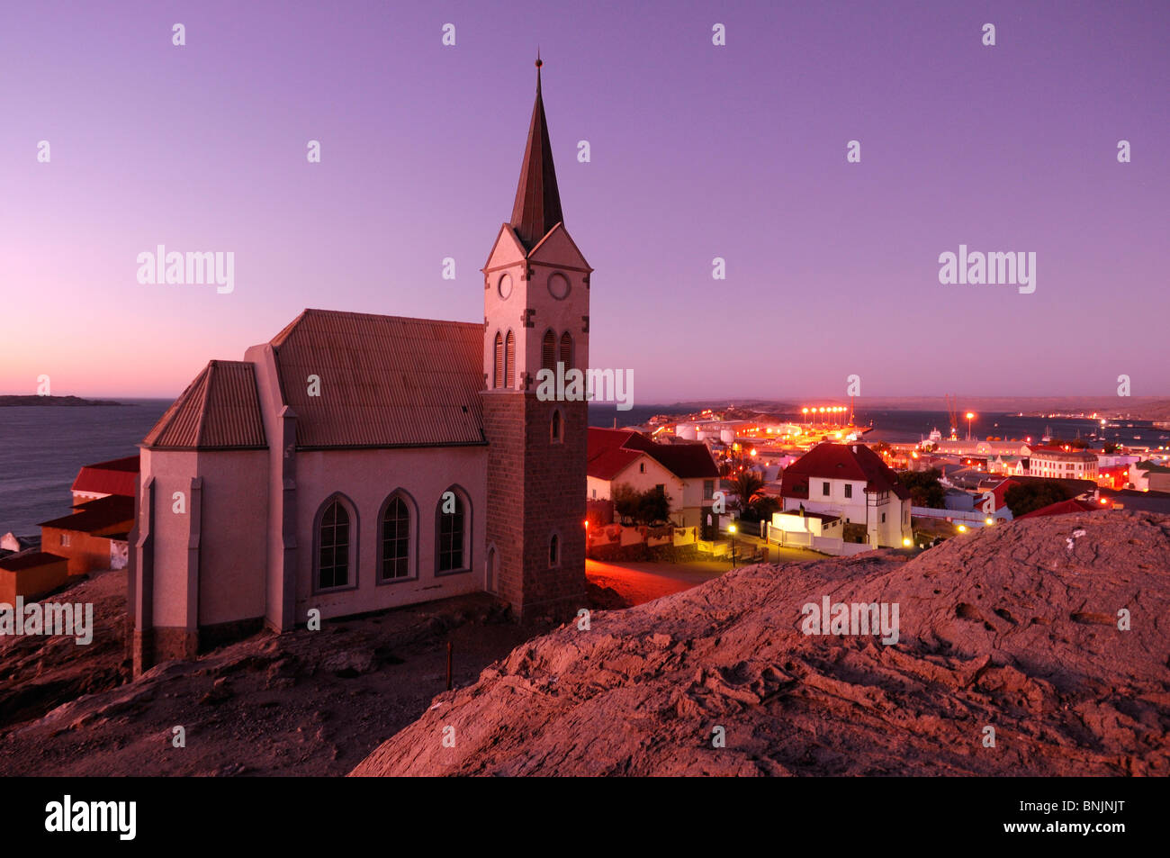 Church Luderitz Karas Region Namibia Africa Travel town - Stock Image