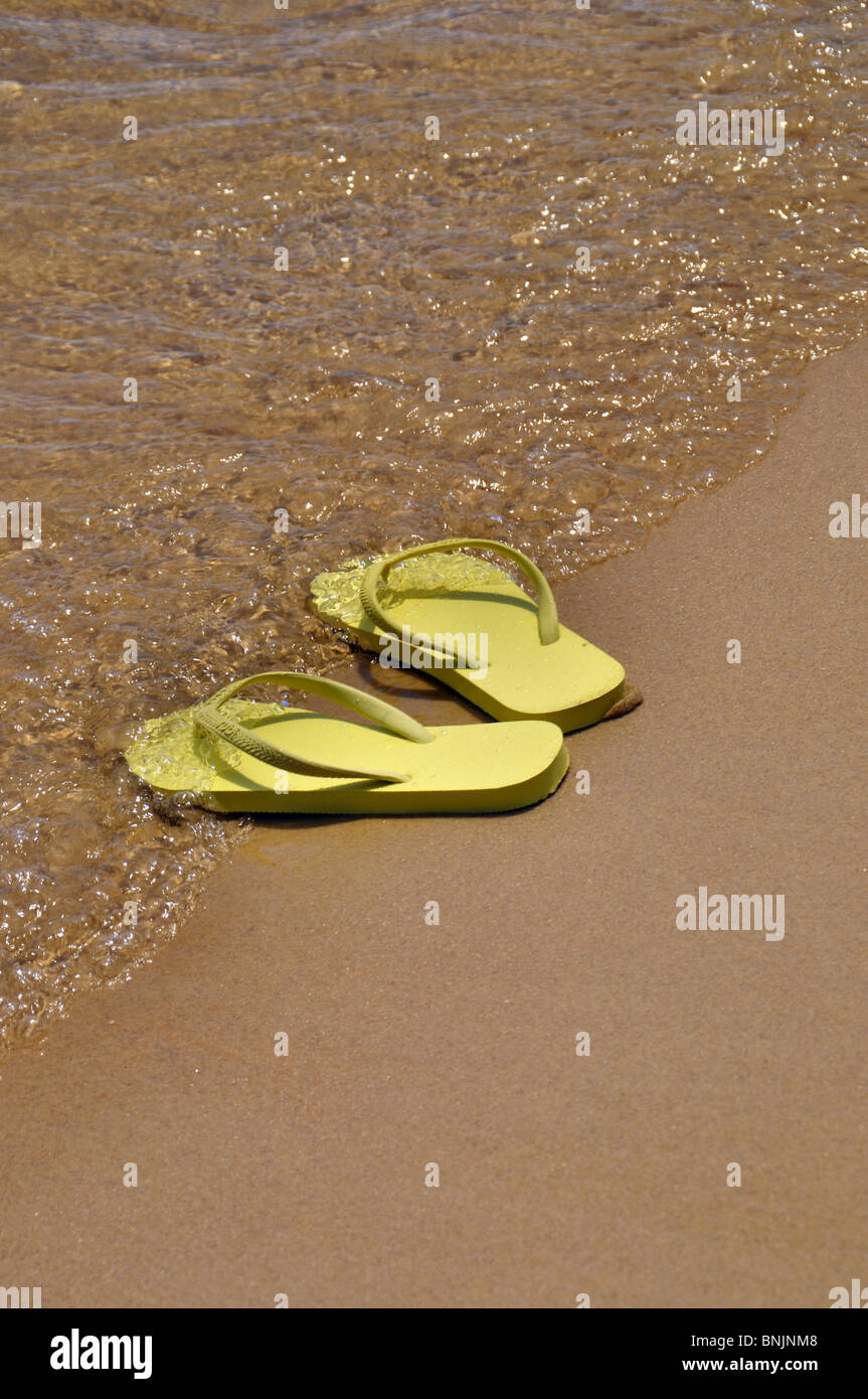 90f070352 Flip Flops See Ocean Shoes Shore Coast Beach Summer Bathing Hot Empty  Drowned Holiday Vacation Holidays Swimming Sanddunes