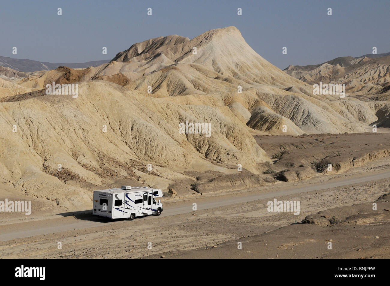 Roadbear RV Camper caravan 20 Mule Team Canyon Death Valley National Park California USA America North America travel - Stock Image