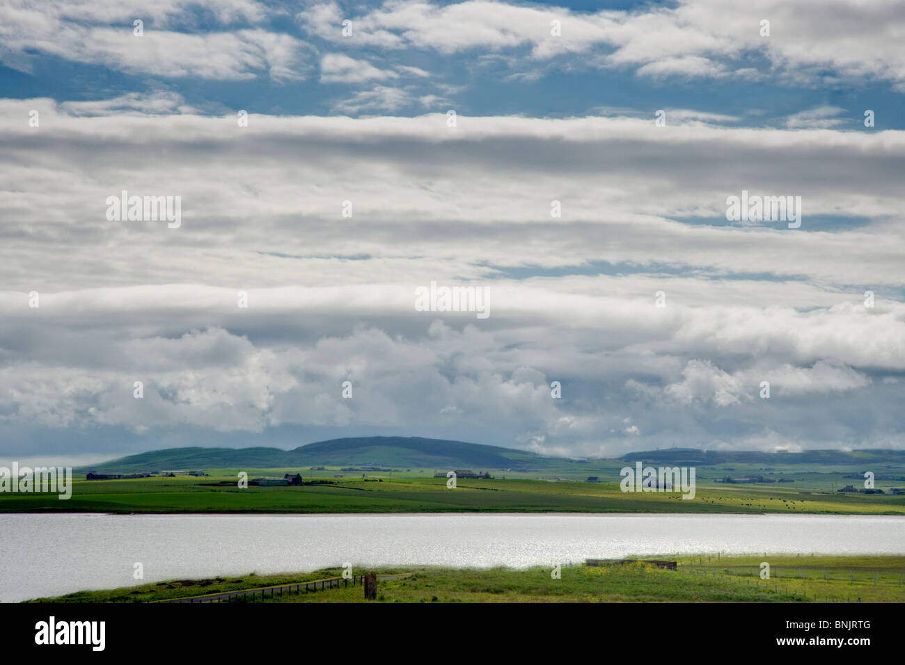 View across Loch of Stenness Orkney Mainland LA005062 - Stock Image