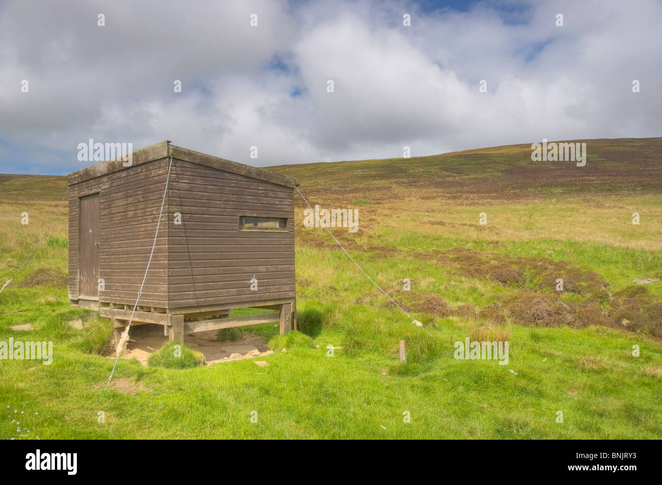 Cottascarth and Rendal Moss RSPB Reserve with hide Mainland Orkney LA005190 Stock Photo