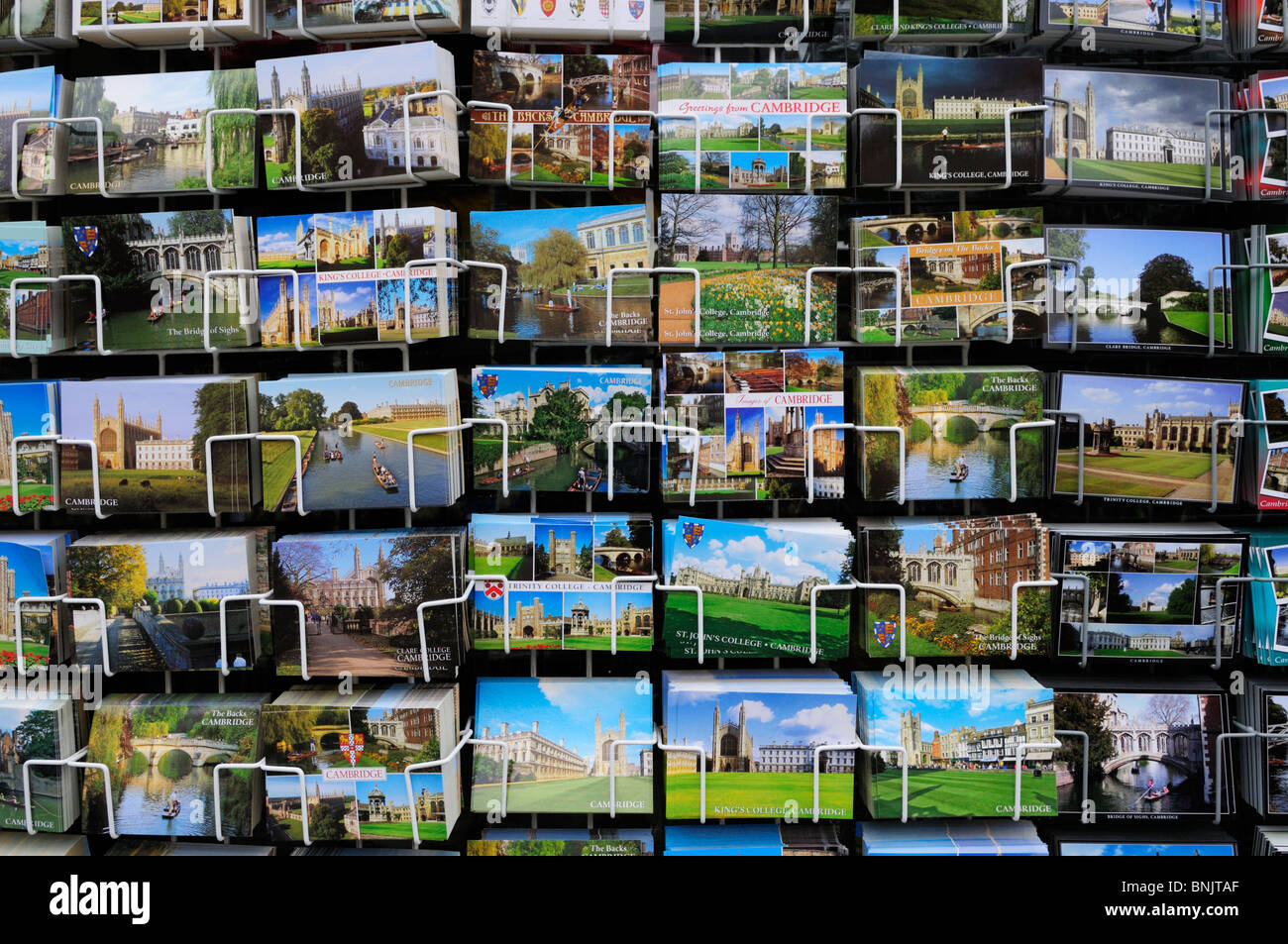 Postcards of Cambridge for Sale, Cambridge, England, UK Stock Photo