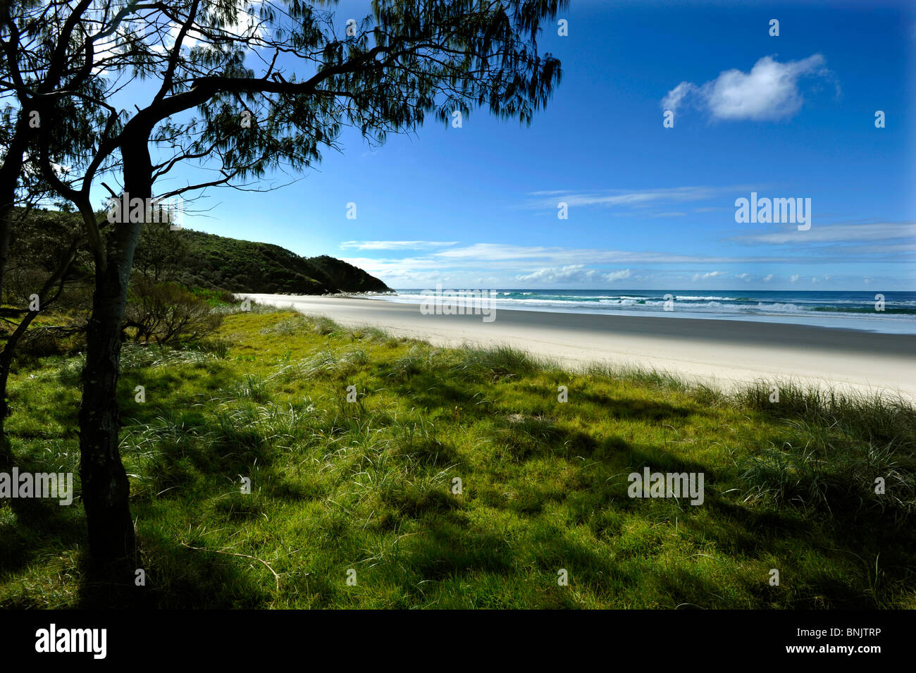 North end of Seven Mile Beach Lennox Head Northern NSW Australia - Stock Image