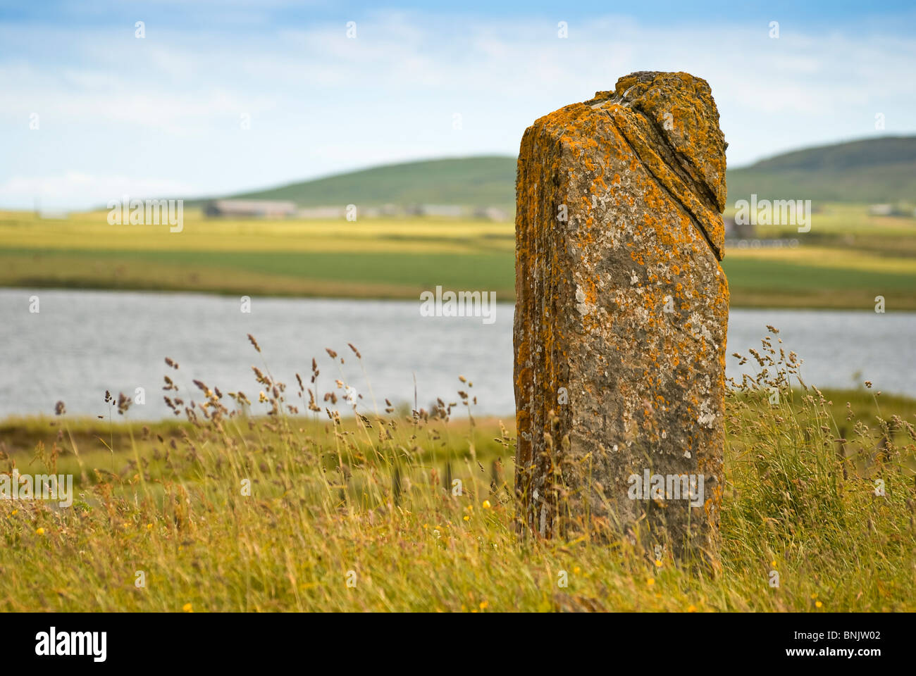 The Comet Stone, Orkney - Stock Image