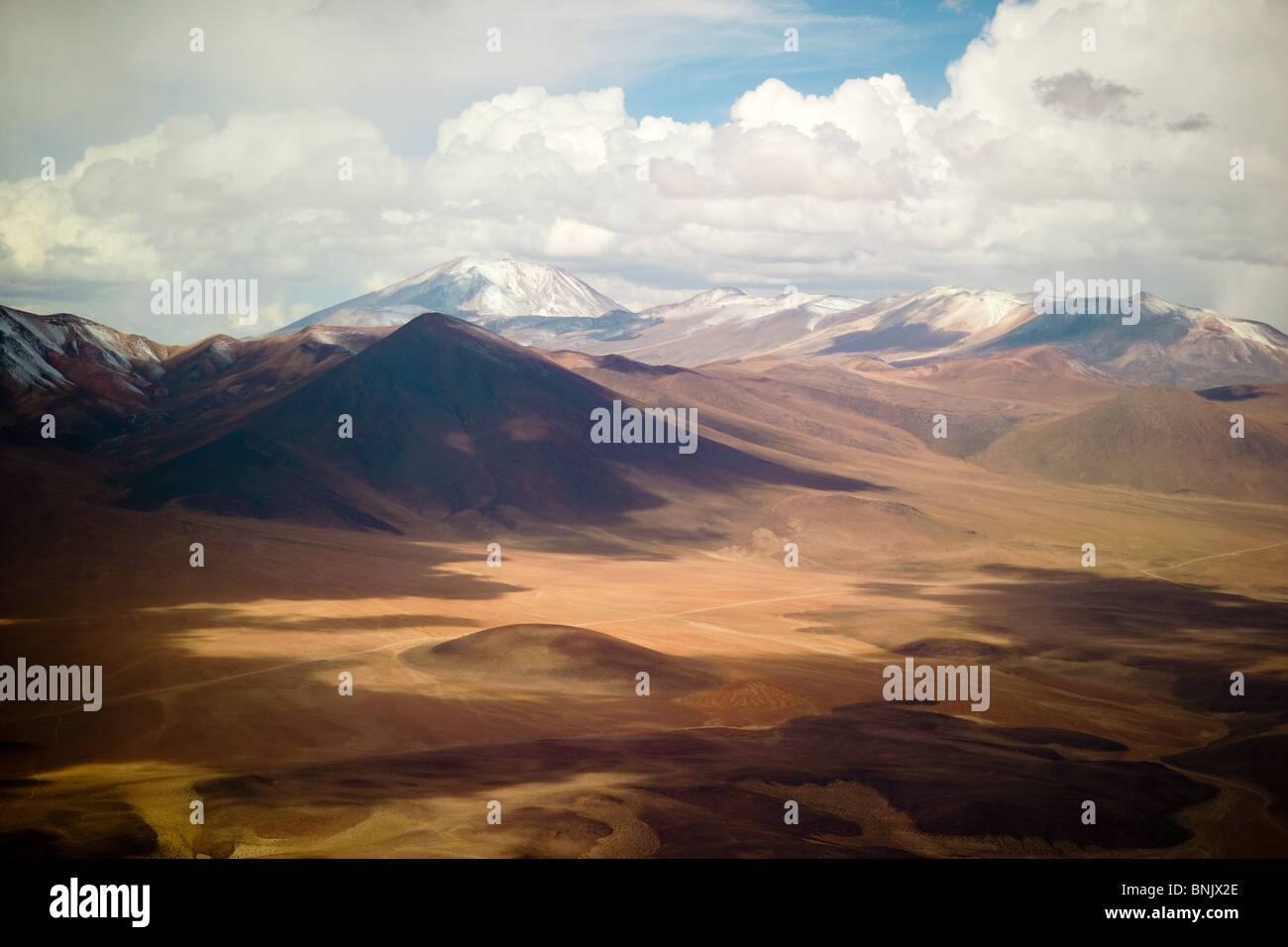 Aerial view of the Atacama desert, northern Chile - Stock Image