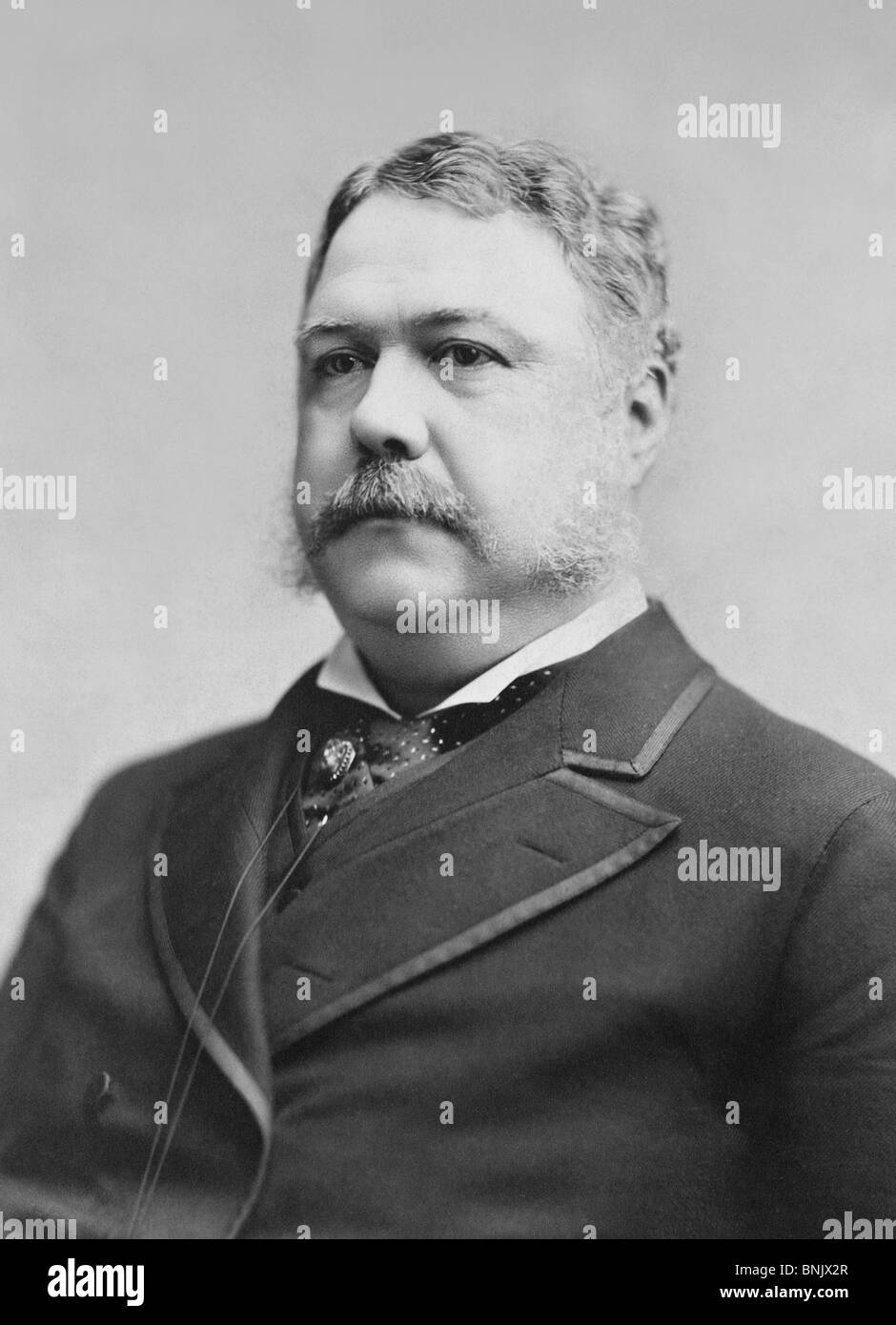Portrait photo circa 1882 of Chester A Arthur (1829 - 1886) - the 21st US President (1881 - 1885). - Stock Image