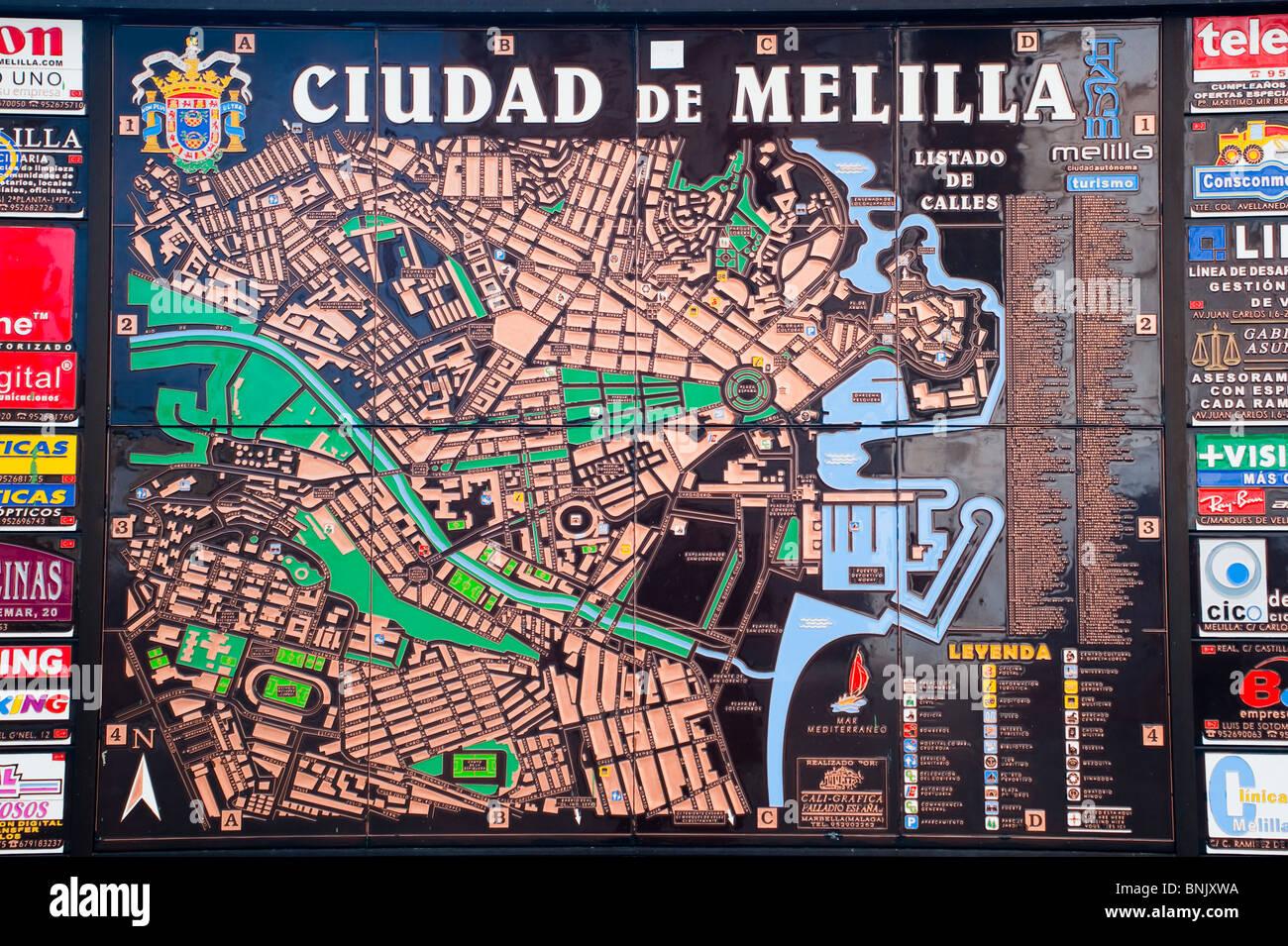 Melilla Spain Map.Melilla City Map Melilla Spain Europe Stock Photo 30534374 Alamy