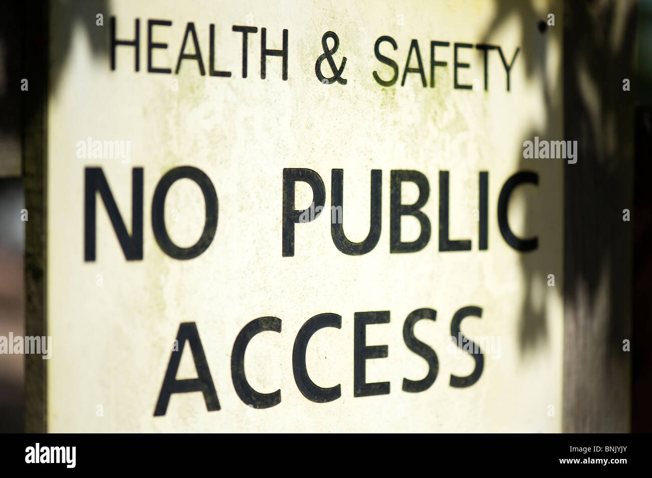 Health and Safety, No public Access sign. UK - Stock Image