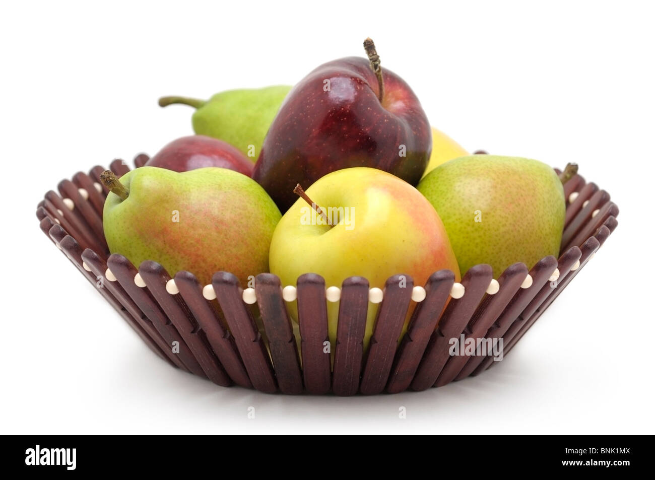 Basket of Fruits -  Apples and Pears - Stock Image