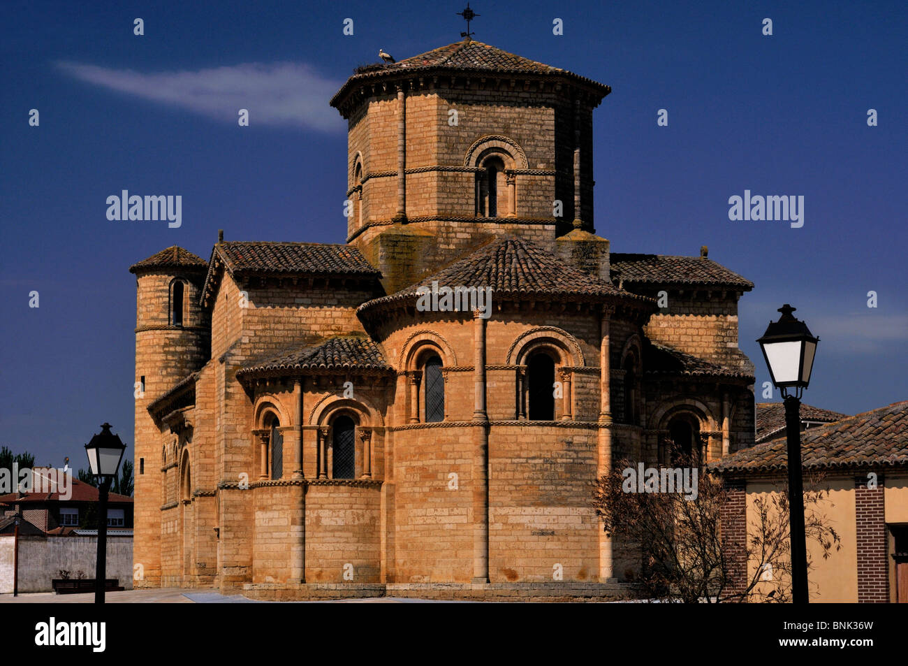 Spain, St. James Way: Iglesia San Martin in Fromista - Stock Image