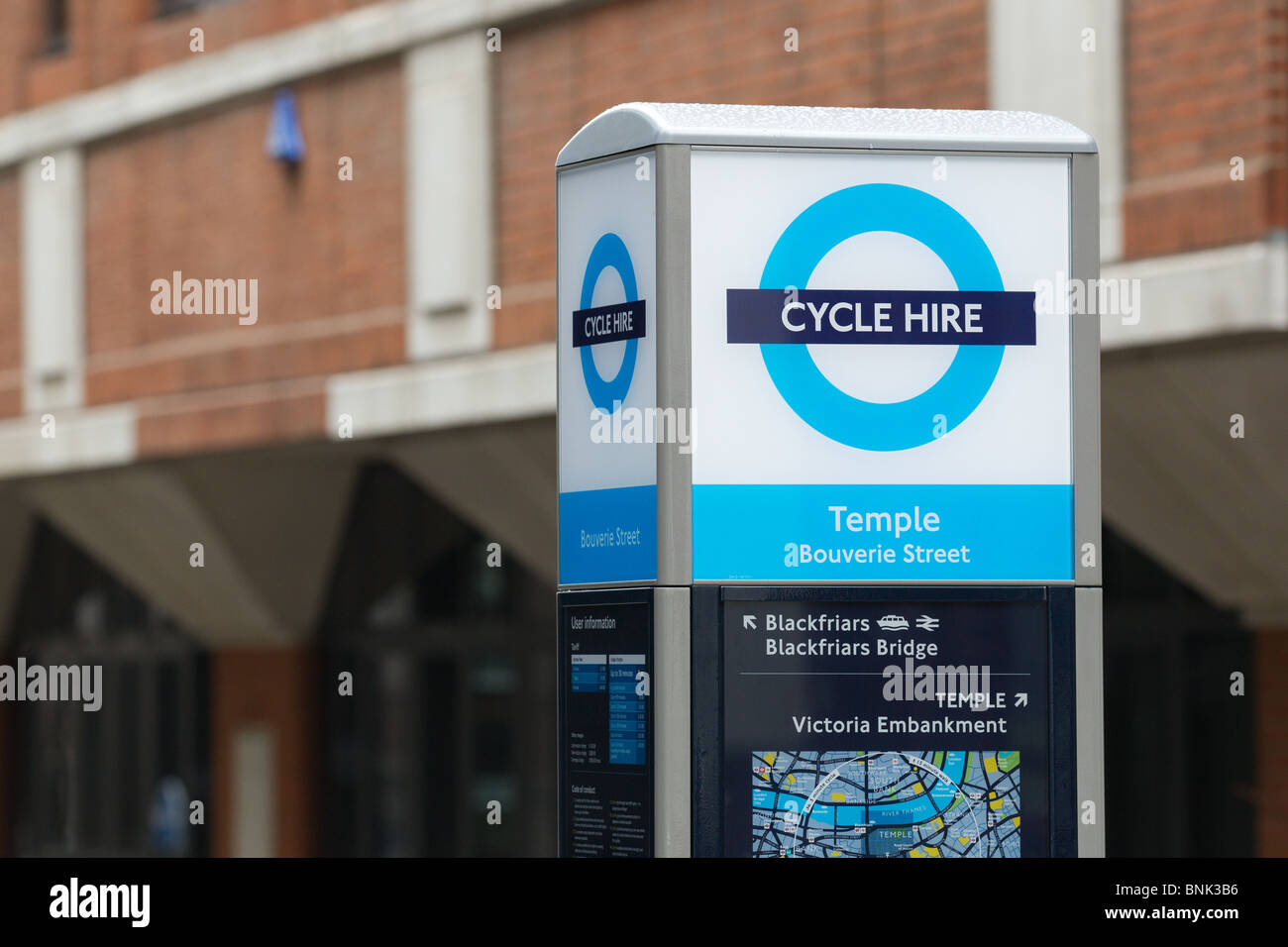 Transport for London's (TfL) Cycle Hire Scheme - Stock Image