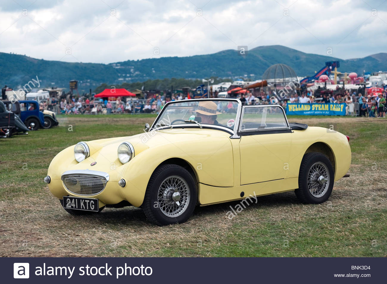 Austin Healey Sprite MK1 sports two seater car at the Welland 2010 Steam Rally & Show, UK. 1961 '241 KTG' - Stock Image