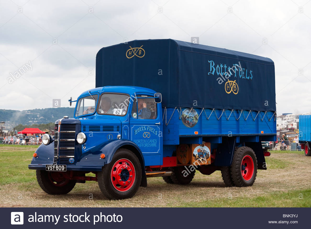 Bedford 'O' Type flatbed truck 1952 'VSY 809' at the Welland 2010 Steam Rally & Show, UK. Historic - Stock Image