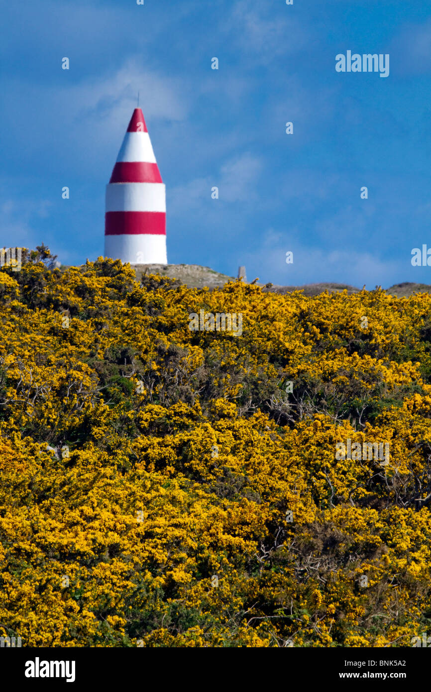 St Martins; daymark; Isles of Scilly - Stock Image
