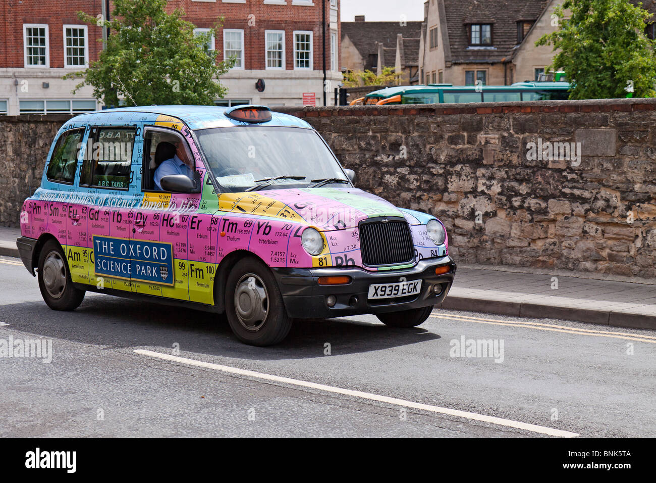 Uk oxford taxi displaying periodic table stock photo 30539834 alamy uk oxford taxi displaying periodic table urtaz Image collections