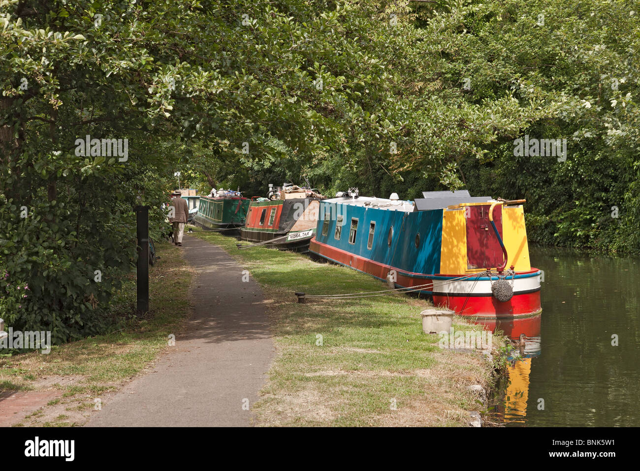 UK Oxford Barges On The Canal - Stock Image
