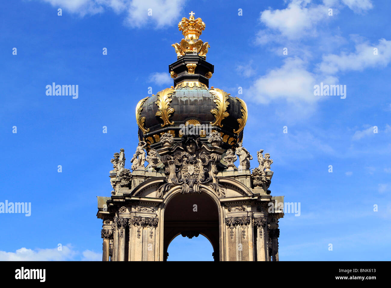 Crown Gate at Zwinger Palace in Dresden, Germany - Stock Image