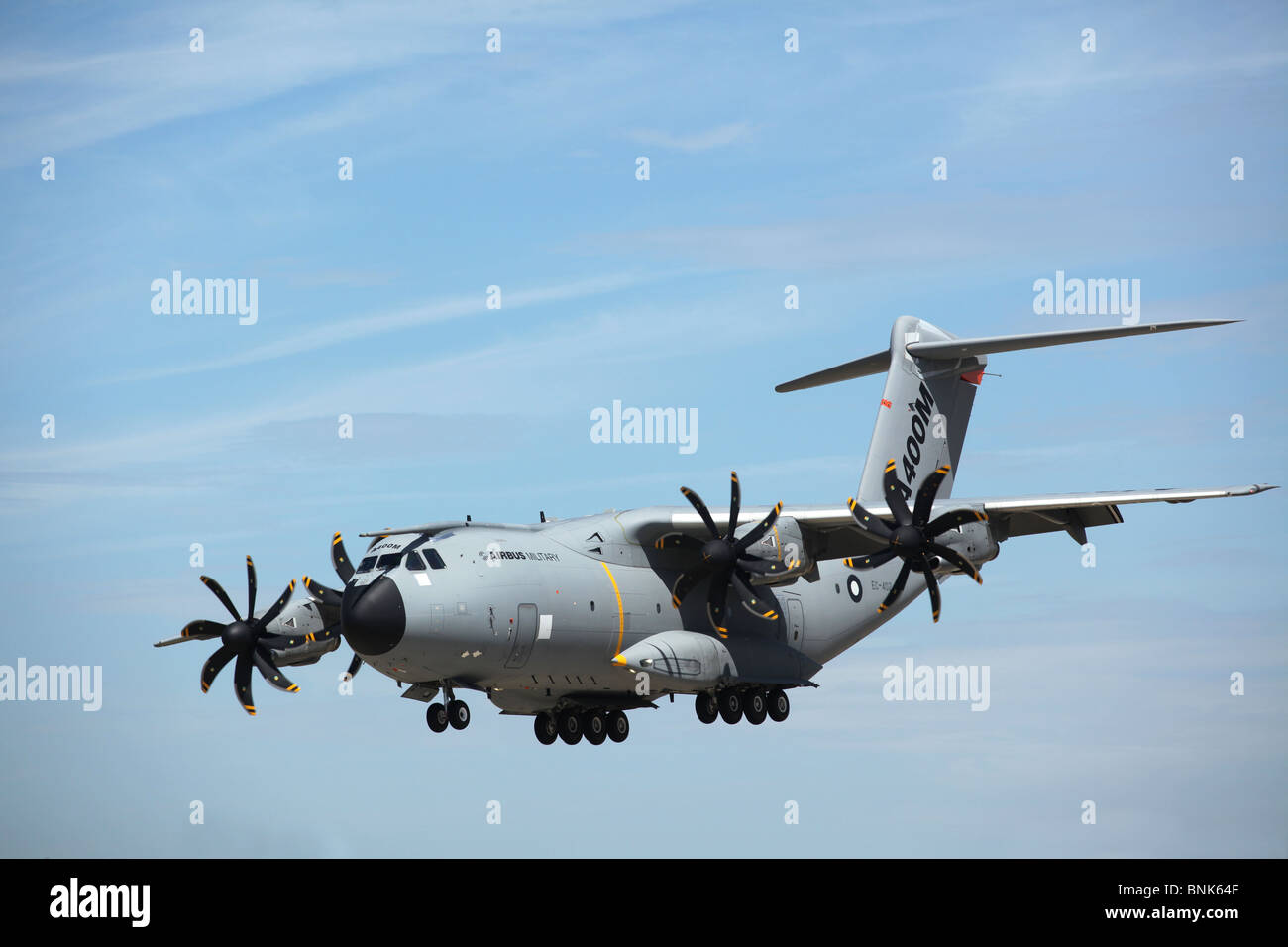 An Airbus A400M military airplane - Stock Image