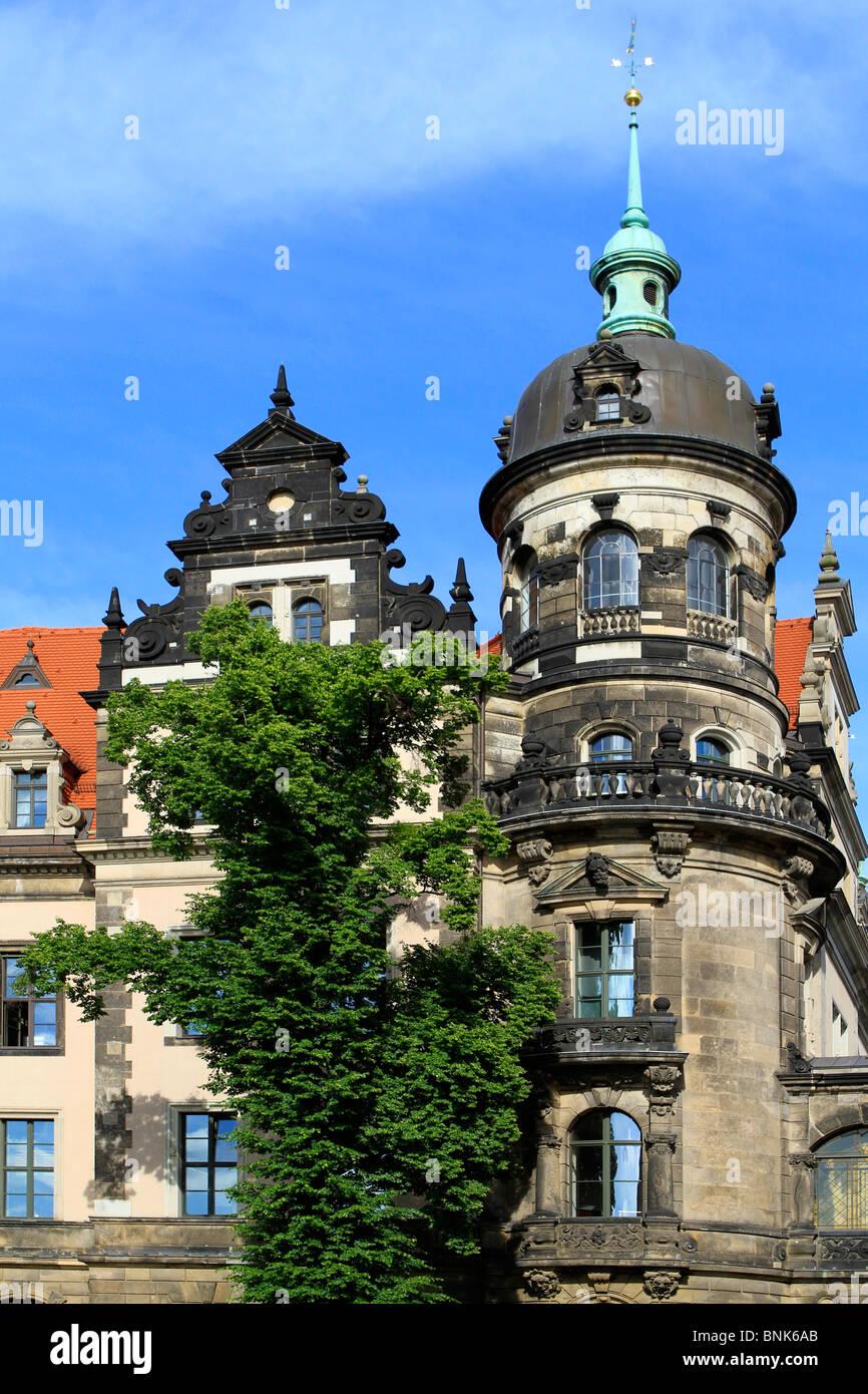 Residence castle Dresden Saxony Germany - Stock Image