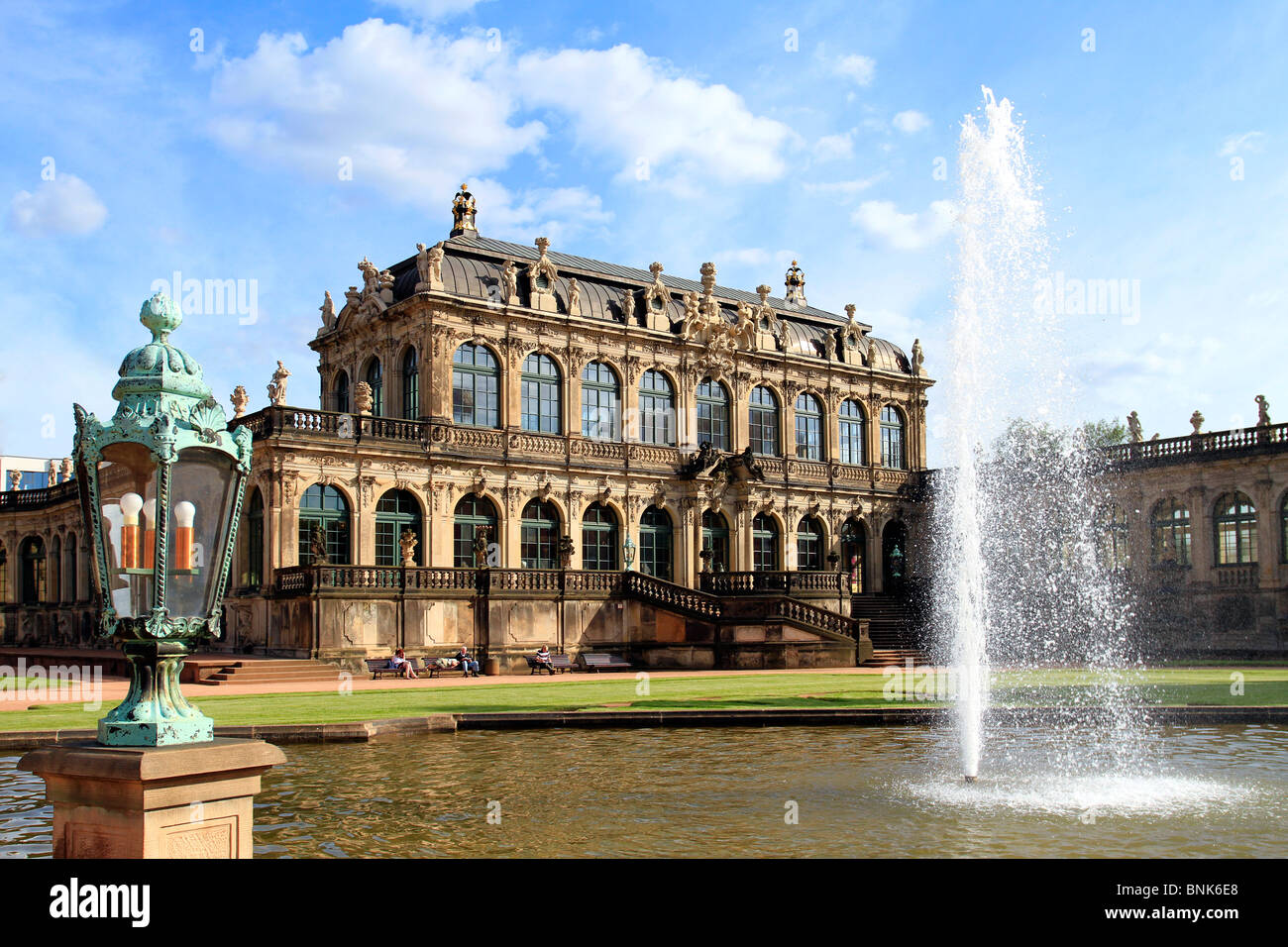 Zwinger Palace in Dresden, Germany - Stock Image