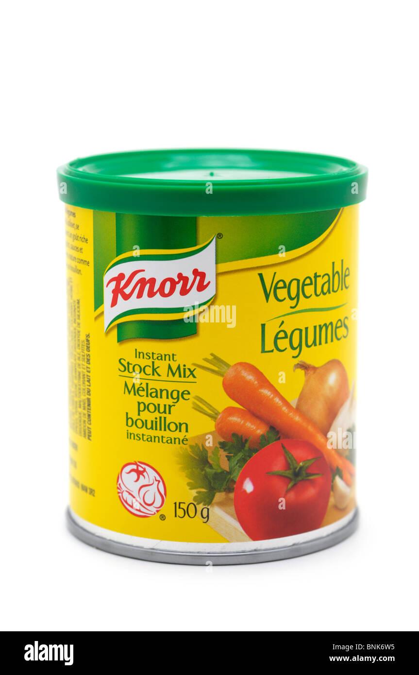Tin of Vegetable Stock Mix - Stock Image