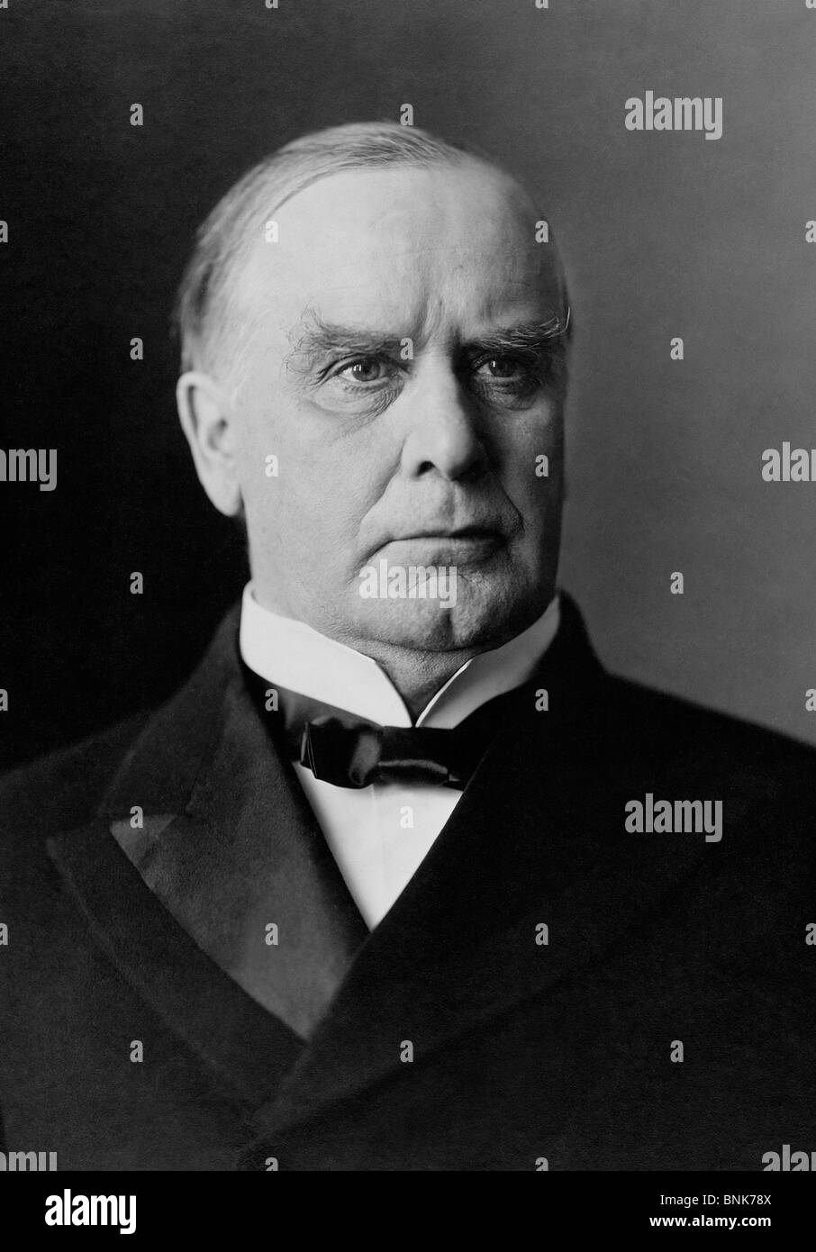 Portrait photo c1900 of William McKinley Jr (1843 - 1901) - the 25th US President (1897 - 1901) + the third to be - Stock Image
