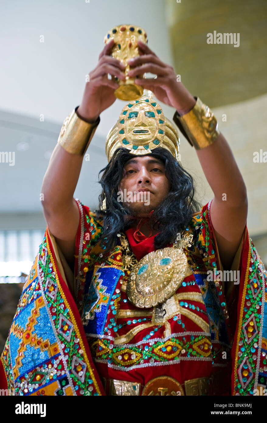 The Smithsonian Museum of the American Indian hosted 'Makiykumanta', a celebration of Peruvian culture on - Stock Image