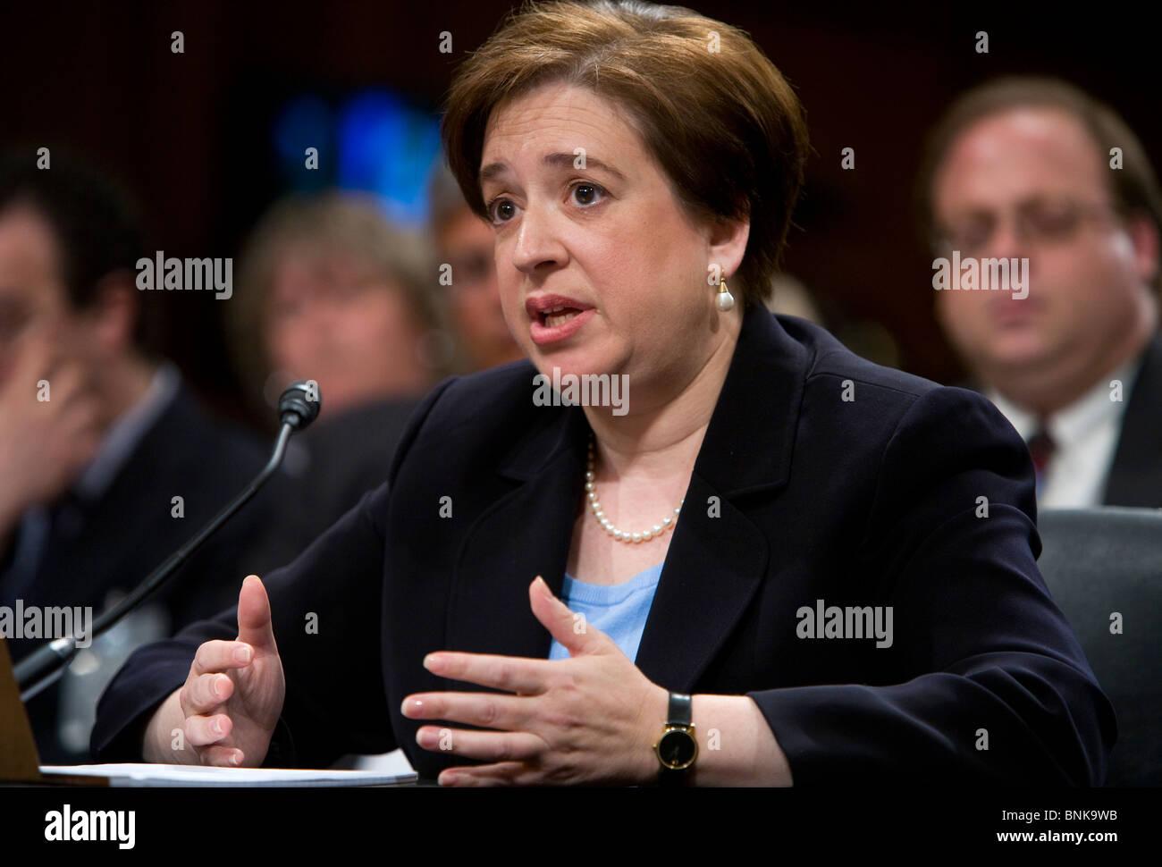 Supreme Court Justice Elena Kagan.  - Stock Image