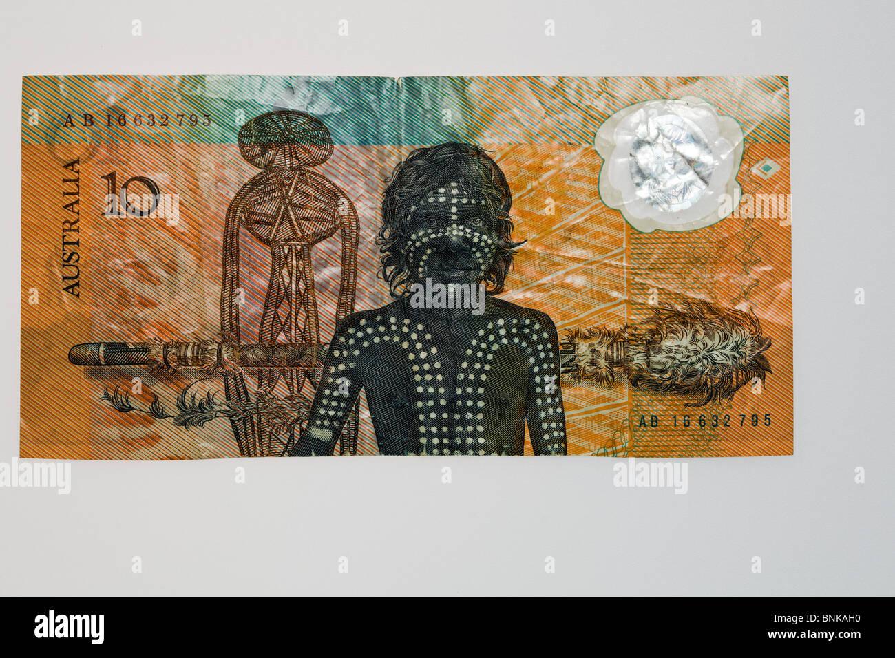 1988 commemorative 10 dollar polymer note - reverse Stock Photo