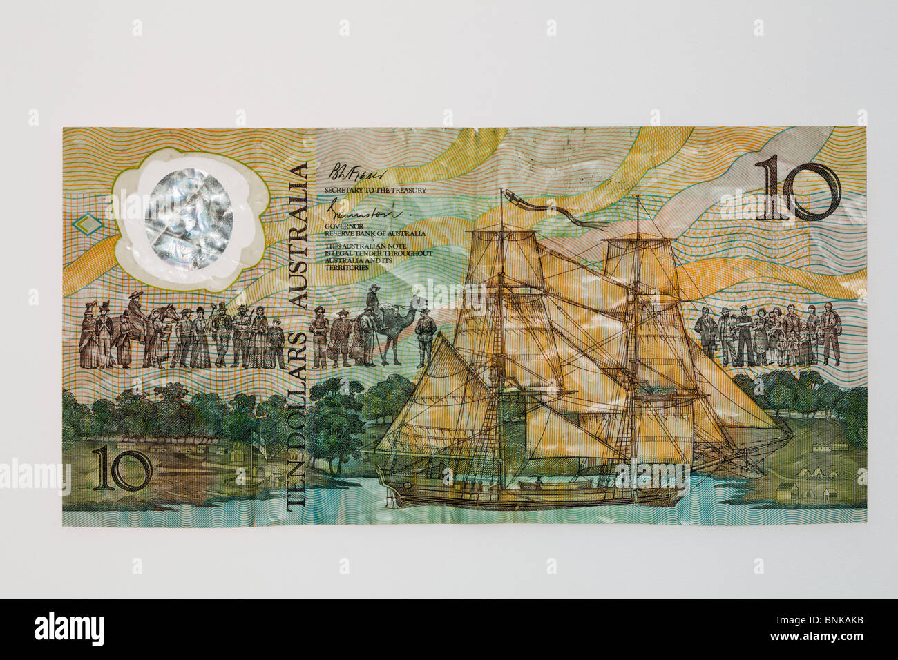 1988 commemorative 10 dollar polymer note - obverse - Stock Image