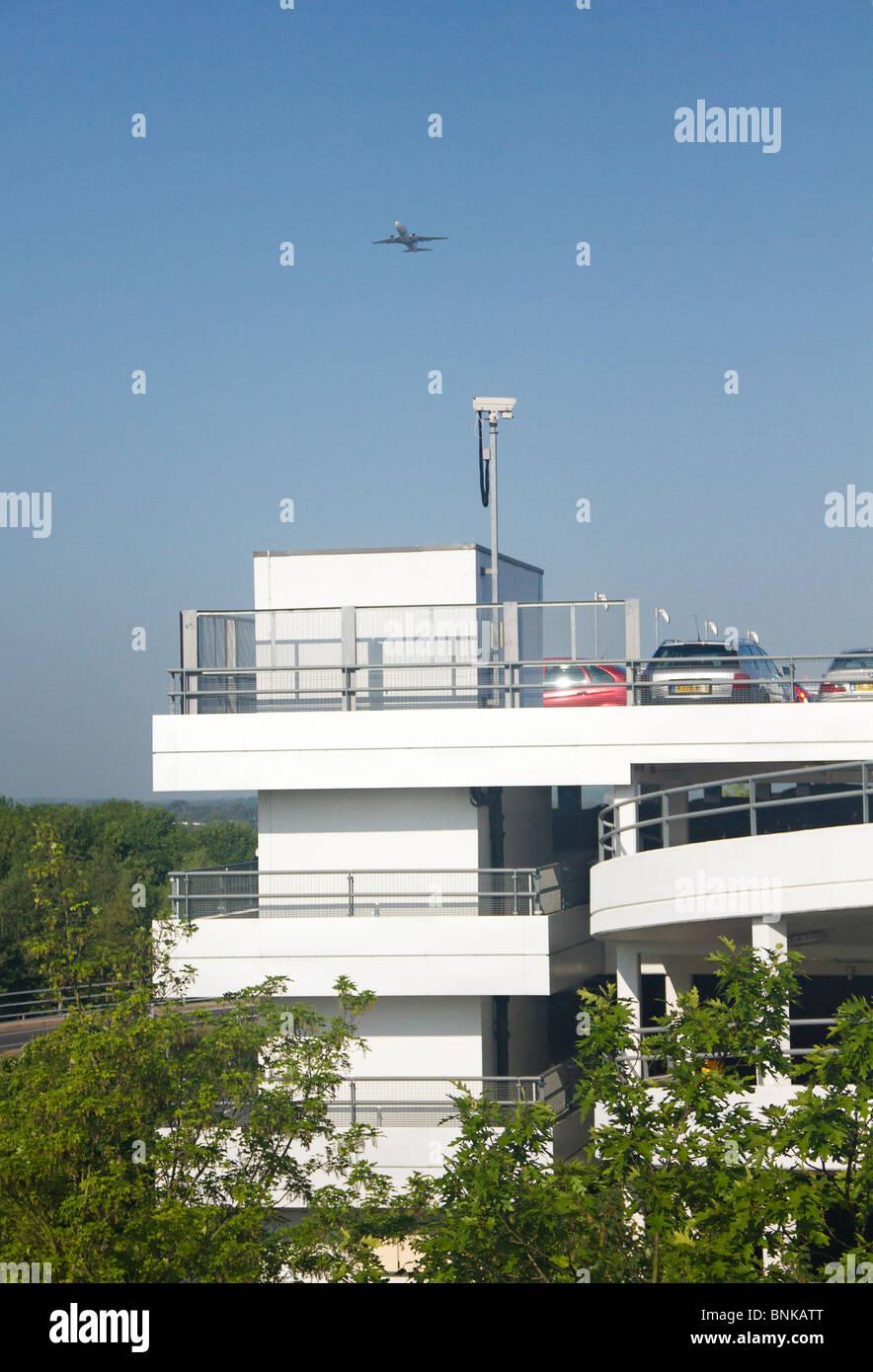Multistorey carpark at Gatwick Airport, West Sussex, UK - Stock Image