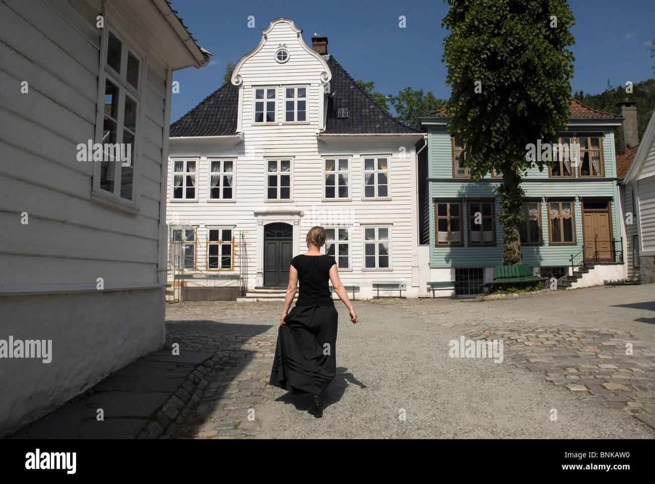Gamle Bergen Museum. Bergen, Norway. Stock Photo