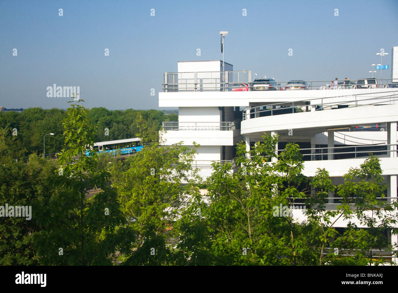Multistorey car park at Gatwick Airport, West Sussex, UK - Stock Image
