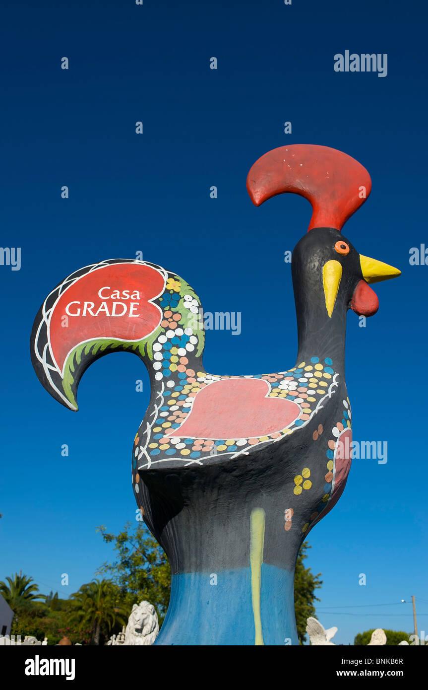 Algarve Portugal Heraldic Animal Cock Sculpture Symbol Barcelos