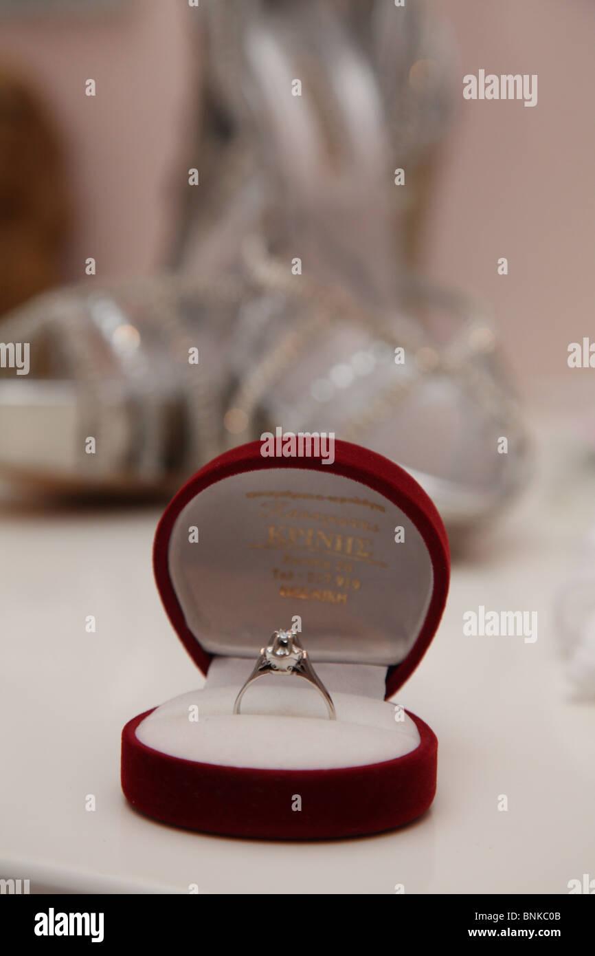 ring,wedding,jewel,deposit ,bride, - Stock Image