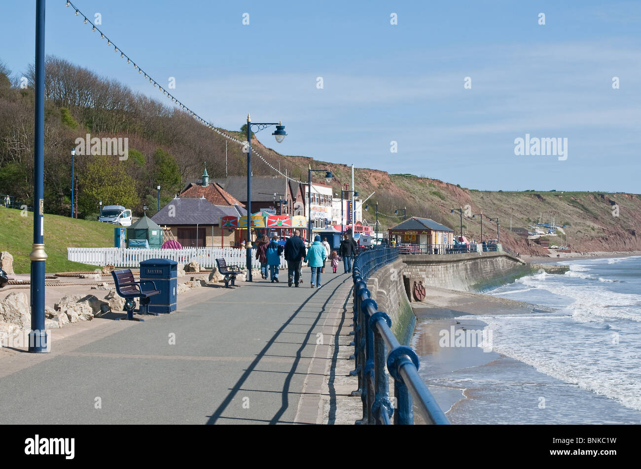 Filey promenade, East Coast of Yorkshire - Stock Image