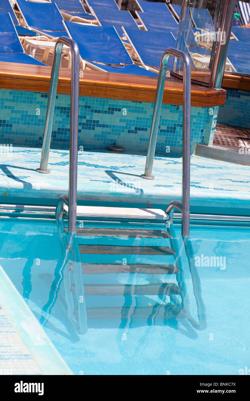 Swimming Pool Cunard Liner Queen Stock Photos Swimming Pool Cunard Liner Queen Stock Images