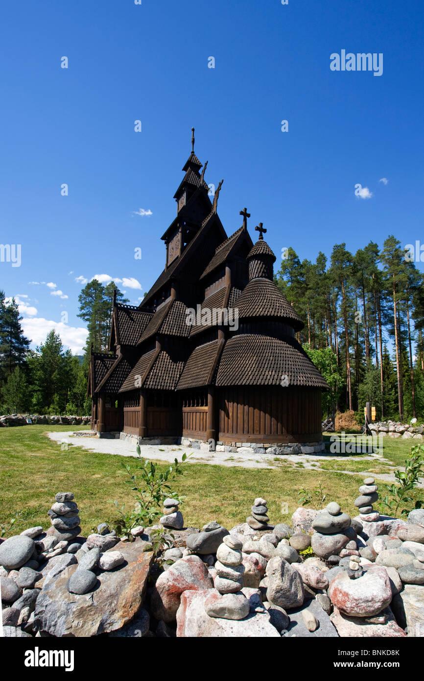 Norway Scandinavia Gol Vikings Viking Viking's church stick church wood culture church travel holidays vacation - Stock Image