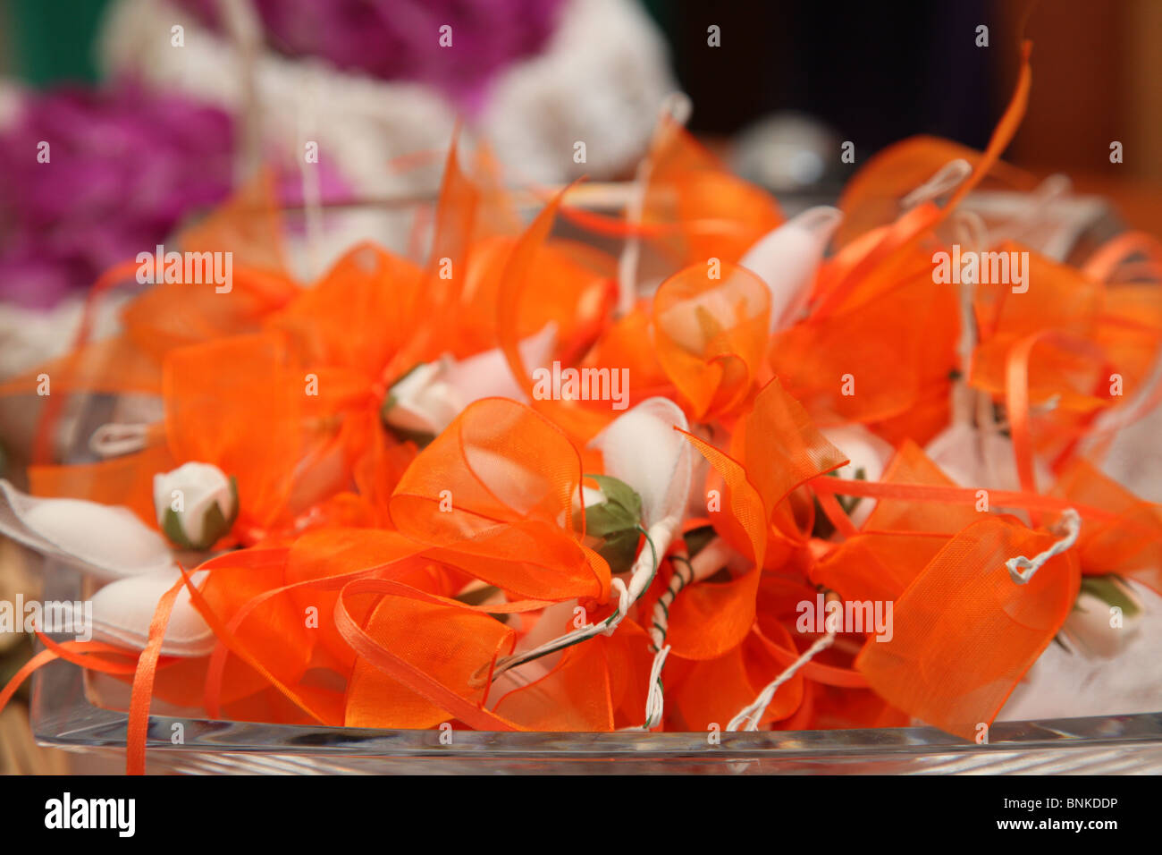 wedding bonbons for the guests in Greece - Stock Image