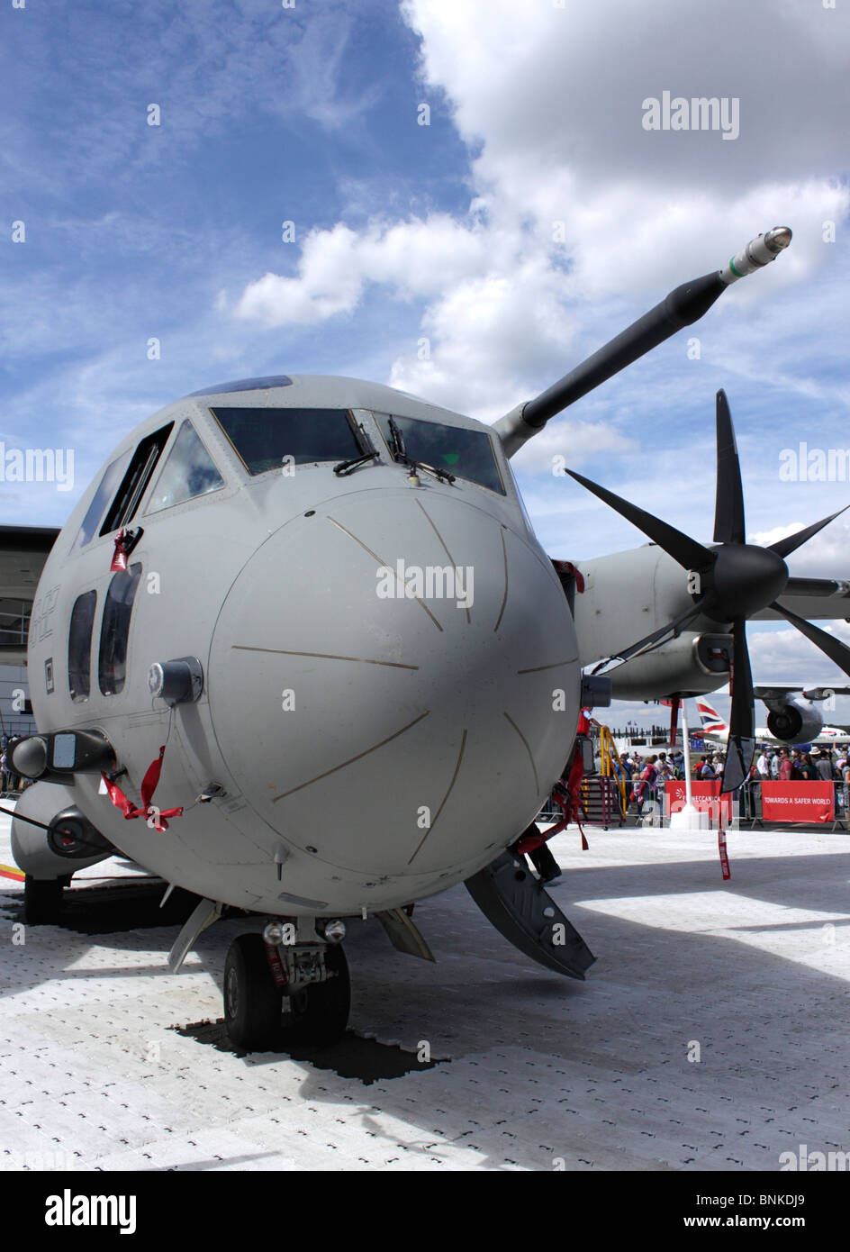 C27J Spartan airlifter on display at the Farnborough Airshow 2010 - Stock Image