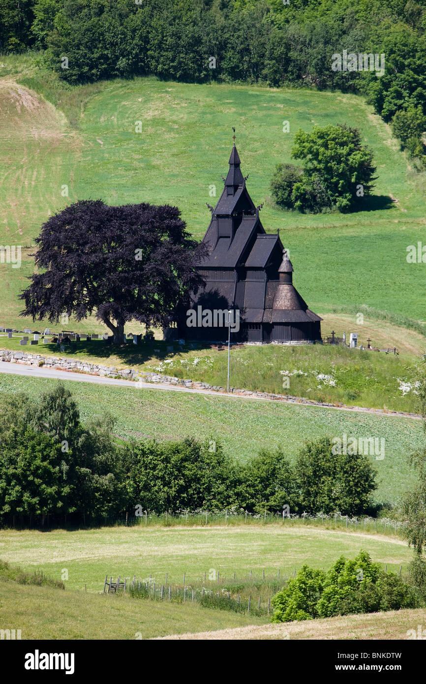 Norway Scandinavia Vikings Viking Viking's church church stick church wood travel holidays vacation tourism, - Stock Image