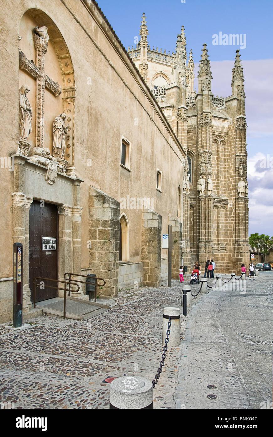 Entrance to the chapel of San Juan de los Reyes, Toledo city, Castilla la Mancha, Spain, Europe, - Stock Image