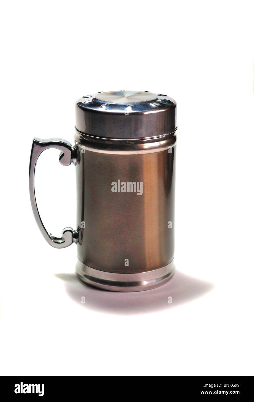 Thermos on a white background - Stock Image