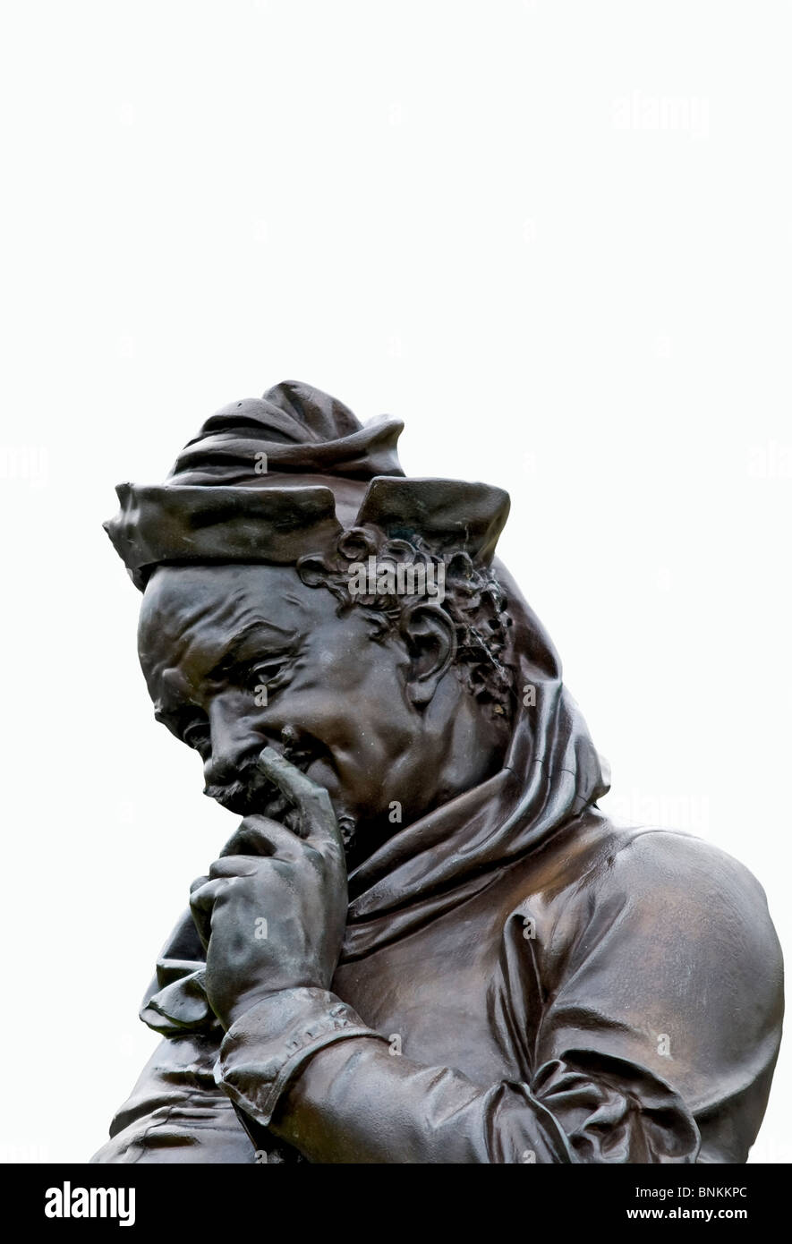 Cut out of the Falstaff sculpture at the Sir Ronald Gower Memorial to Shakespeare in Stratford upon Avon, Warwickshire, - Stock Image