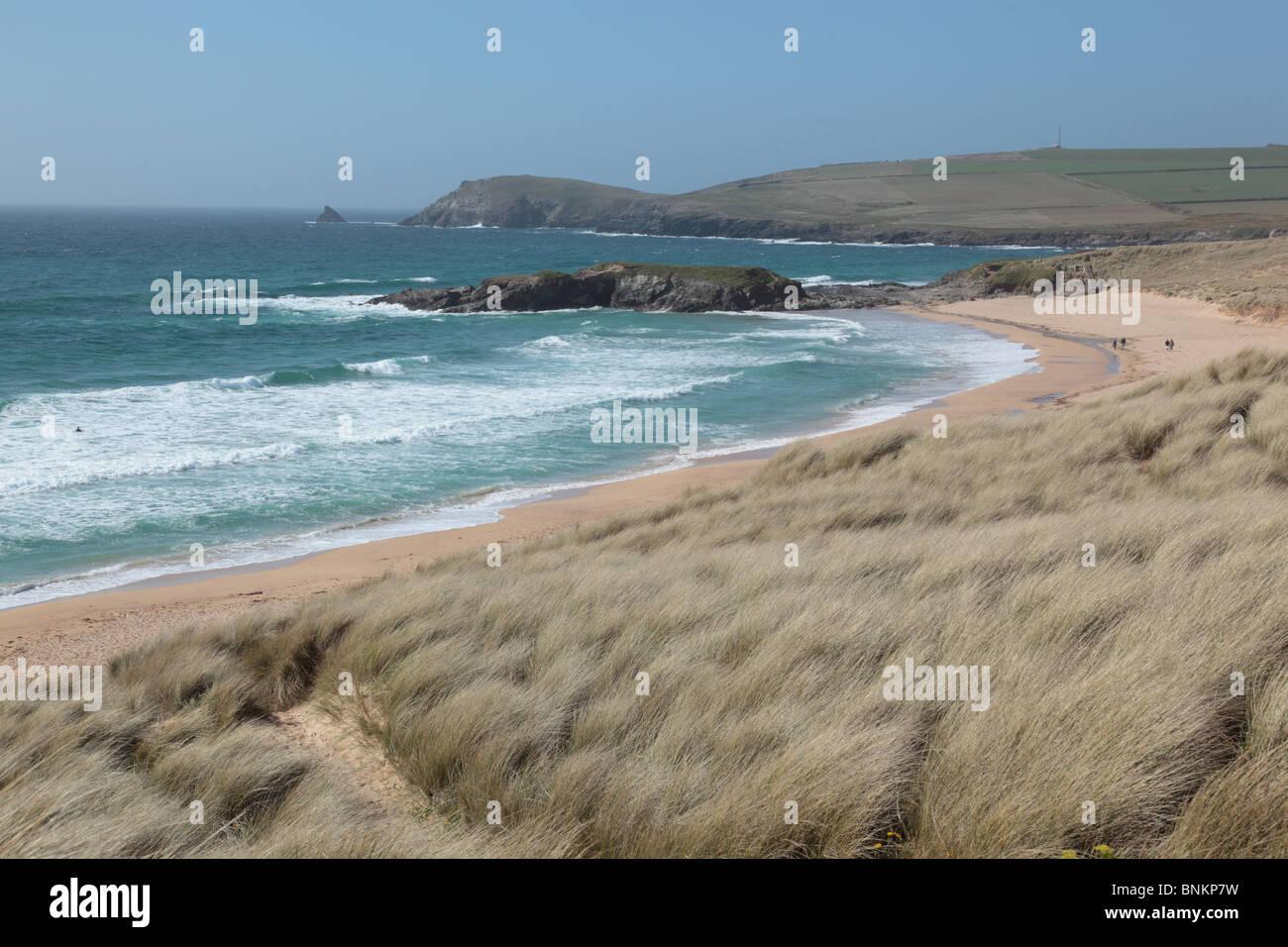White balance daylight 5200K; Constantine Bay; Cornwall - Stock Image
