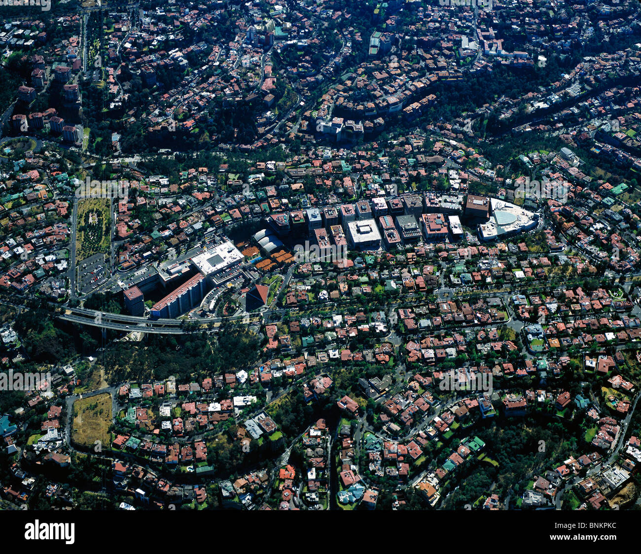 Aerial View Above Residential Corporate Development Bosques De Las Stock Photo Alamy
