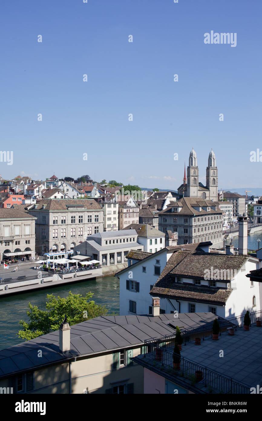 Skyline of Zürich, Switzerland - Stock Image