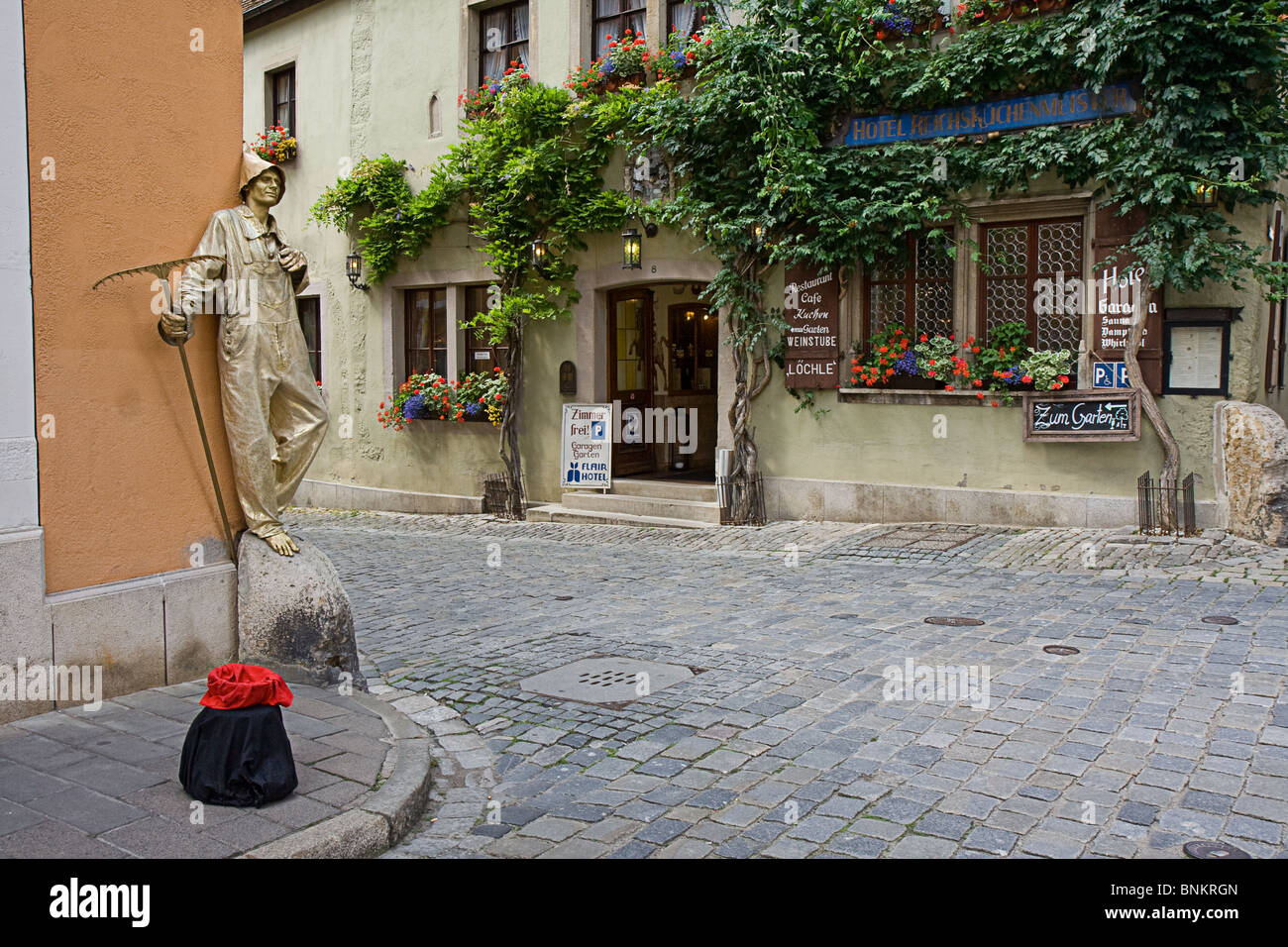 Streets of Rothenburg of der Tauber - Stock Image