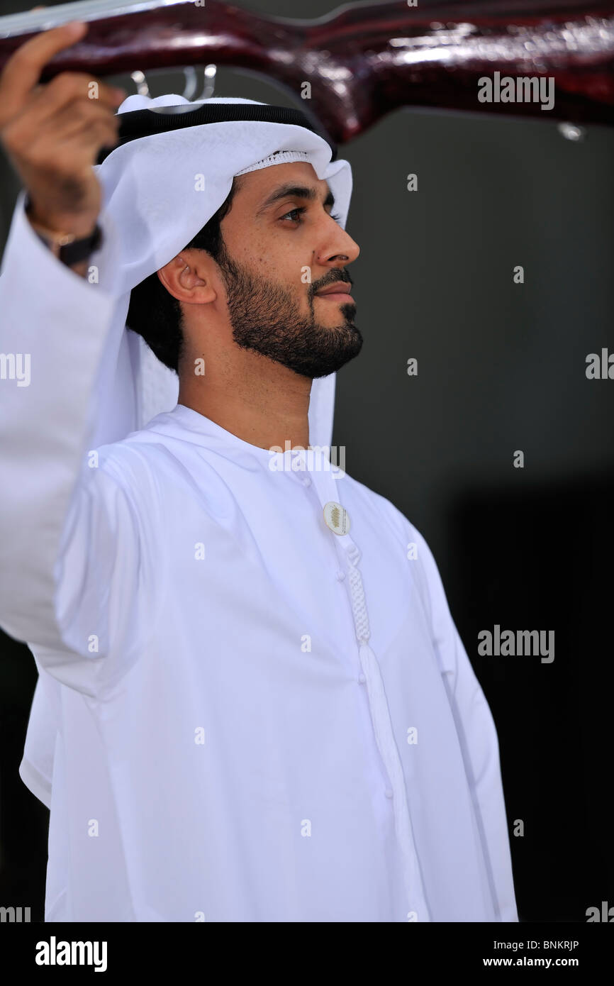 Traditional Arab dance - Razafat and Yula Stock Photo